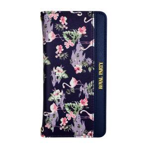 iPhone6 iPhone6s ROYAL PARTY/ロイヤルパーティー 「フラミンゴ(NAVY)」ブランド 手帳ケース|mobile-f