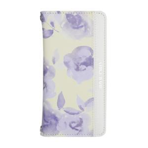 iPhone6 iPhone6s ROYAL PARTY/ロイヤルパーティー 「Blur flower(Yellow)」ブランド 手帳ケース 花柄|mobile-f