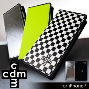 iPhone7 cdm(シーディーエム) 「ベーシック (3color)」 手帳型ケース 市松模様 ネオン iPhone6s/6 mobile-f