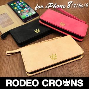 iPhone8 RODEOCROWNS/ロデオクラウンズ 「スエード」 手帳型 スマホケース iPhone7/6s/6|mobile-f
