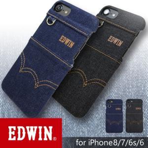 iPhone8/7/6/6s背面ケース EDWIN/エドウィン 「ステッチデニム」|mobile-f
