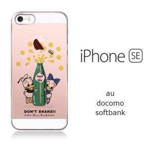 iPhone SE/5/5s 【Disney/ディズニー×シンジカトウ】 「ドナルド&デイジー(透明)」 かわいい キャラクター mobile-f