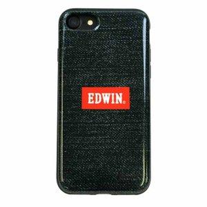 iPhone8 iPhone7 EDWIN 「シェルケース/LOGO(DENIM GREEN)」|mobile-f