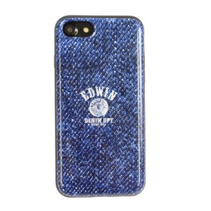 iPhone8 iPhone7 EDWIN 「シェルケース/LOGO BUTTON(DENIM BLUE)」|mobile-f