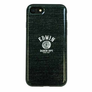 iPhone8 iPhone7 EDWIN 「シェルケース/LOGO BUTTON(DENIM GREEN)」|mobile-f
