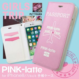 iPhone8 iPhone7 iPhone6s/6 兼用 PINK-latte ピンクラテ 「パスポート 手帳ケース」 アイフォン|mobile-f
