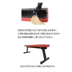トレーニングセット [フラットベンチ/アイアンダンベル 10kg x2個(20kg)セット ] ラバーコーティング / ラバーダンベル 鉄アレイ 10キロ 筋トレ 器具|mobile-garage1|04