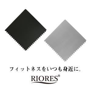 RIORES トレーニング ジョイントマット 45cmx45cmx厚さ1cm 16枚セット  高硬度55 トレーニングマット 防音 防傷 防振|mobile-garage1|07