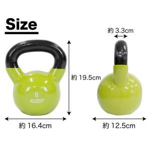 ケトルベル 8kg RIORES ケトルベル ダンベル PVCコーティング 8キロ mobile-garage1 04