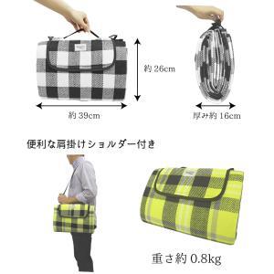 レジャーシート 200×150cm 折りたたみ [送料無料]  洗える ピクニックマット おしゃれ チェック モノトーン 厚手 布  2人-4人用 肩掛け|mobile-garage1|04