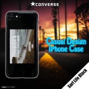 153e2f5968 iPhone 8 iPhone 7 ハードケース AB-0966-IP67-MONO【1070】 CONVERSE コンバース ロゴ Surf  Life Black ブラック ベロシティ【メール便送料無料】