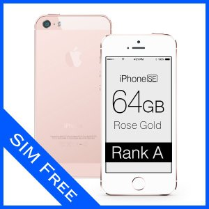 iPhone SE Rose Gold 64GB SIMフリー (ロック解除済) ランクA Apple MLXQ2J/A 本体 中古 スマホ 白ロム|mobile-mach