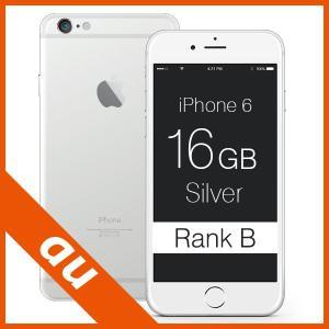 iPhone 6 Silver 16GB au ランクB Apple A1586 NG482J/A 本体 中古 スマホ 白ロム|mobile-mach