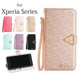 Xperia XZs ケース Xperia XZ X  Z5 Compact Xperia X Performance 手帳ケース コンパクト カバー 可愛い お洒落 ストラップ付 スマホケース mobilebatteryampere