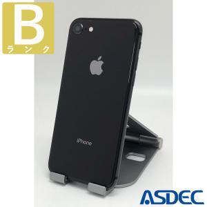 iPhone8 64GB スペースグレイ SIMフリー 中古 Bランク mobilefilm
