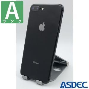 iPhone8Plus 64GB スペースグレイ SIMフリー 中古 Aランク mobilefilm
