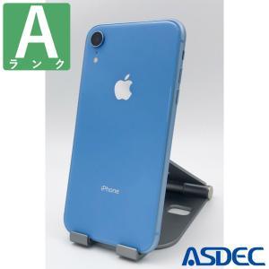 iPhoneXR 128GB ブルー SIMフリー 中古 Aランク mobilefilm