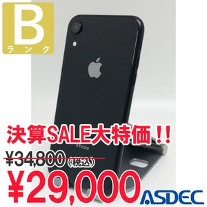 iPhoneXR 64GB ブラック SIMフリー 中古 Bランク mobilefilm