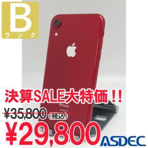 iPhoneXR 64GB レッド SIMフリー 中古 Bランク mobilefilm