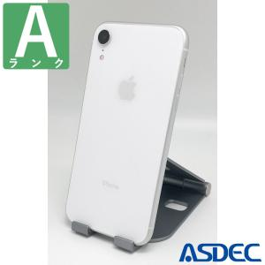 iPhoneXR 64GB ホワイト SIMフリー 中古 Aランク mobilefilm