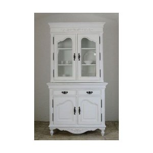 フランス家具 ホワイト家具 2ドアカップボード 0222-cb-0121107