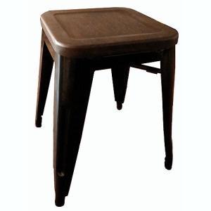 ***4月入荷予定***Cafe Line メタルスツール(ウッド座面)ブラック 椅子/イス/いす/...