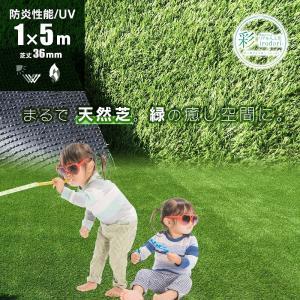 防炎リアル人工芝 [U字ピン10本入] 1m×5m 芝丈36mm [彩-IRODORI-] UV ロールタイプ人工芝 綺麗 高密度 高級 芝|mobimax2