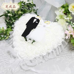 リングピロー (完成品) ブライダル リング ピロー ウエディング 結婚式 小物 ファーストピロー ウェディング ブライダル【リングピロー 03 ハートオブローズ 】|mobimax