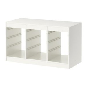 イケア カラーボックス おもちゃ箱 IKEA TROFAST(トロファスト) フレーム, ホワイト, 99x56 cm (001.699.18)