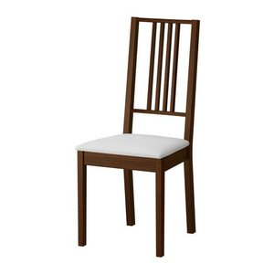 IKEA・イケア 椅子 チェア・ダイニングチェア BORJE チェア, ブラウン, ゴーボ ホワイト (001.822.79) moblife