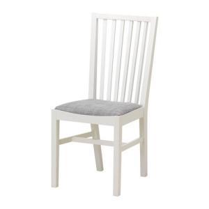 IKEA・イケア 椅子 チェア・ダイニングチェア NORRNAS チェア, ホワイト, イースンダ グレー (001.853.05) moblife
