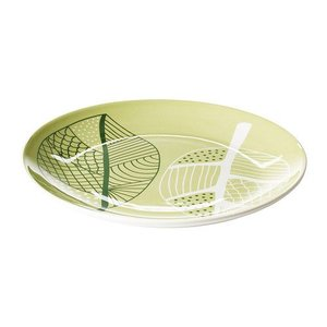 IKEA・イケア 食器・プレート OVERENS サイドプレート, グリーン, ホワイト, 21 cm (002.097.21)|moblife