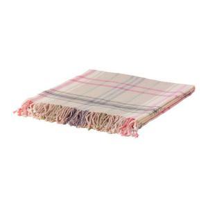 IKEA・イケア ひざ掛け HERMINE ひざ掛け, ベージュ, ピンク, 120x180 cm (002.121.63) moblife