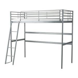 イケア IKEA ロフトベッド ベッド SVARTAロフトベッドフレーム, シルバーカラー(002.479.83)|moblife