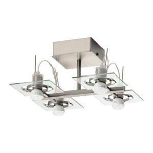 IKEA・イケア 照明・ランプ FUGAシーリングスポットライト 4スポット, クロムメッキ, クリアガラス(002.626.24)|moblife