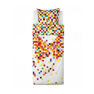 【IKEA/イケア/通販】「キッズ・ベットリネン」 FLYGA 掛け布団カバー&枕カバー, ホワイト, 150x200/50x60 cm (002.732.22)|moblife