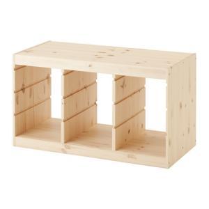 イケア カラーボックス おもちゃ箱 IKEA TROFAST(トロファスト) フレーム, パイン材 (003.086.98)
