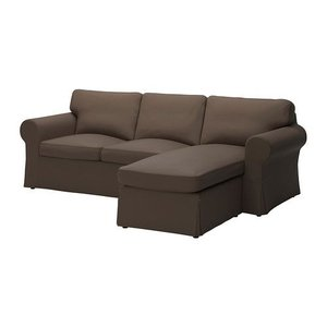 IKEA・イケア ソファ EKTORP 2人掛けソファ&寝椅子, ヨーンスボーダ ブラウン (090.052.39) moblife