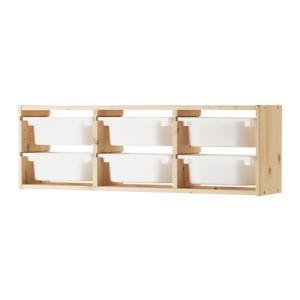イケア カラーボックス おもちゃ箱 IKEA TROFAST(トロファスト) ウォール収納, パイン材, ホワイト (091.023.15)
