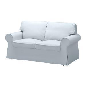 IKEA・イケア ソファ EKTORP 2人掛けソファ, ノールドヴァッラ ライトブルー (091.291.88)|moblife
