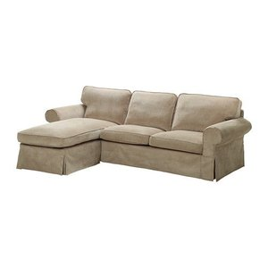 IKEA・イケア ソファ EKTORP 2人掛けソファ&寝椅子, ヴェッリンゲ ベージュ (099.027.69) moblife
