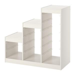 IKEA・イケア TROFAST 収納ボックス おもちゃ箱 トロファスト フレーム, ホワイト, 99x44x94 cm (101.699.08)