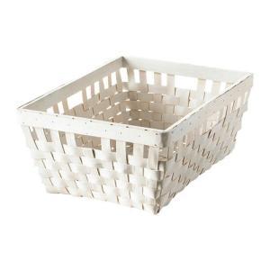 IKEA・イケア 収納ボックス・収納ケース KNARRA  バスケット, ホワイト (102.433.19)|moblife