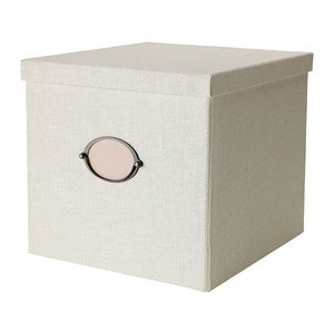 IKEA・イケア 収納ボックス・収納ケース KVARNVIK  ふた付きボックス, ホワイト (102.566.89)|moblife