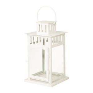 IKEA・イケア キャンドル・ろうそく  BORRBY ブロックキャンドル用ランタン, ホワイト, 28 cm (102.701.43)|moblife
