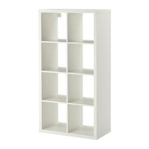 IKEA・イケア 書棚・本棚 KALLAX (カラックス)   シェルフユニット, ホワイト(203.518.84)|moblife