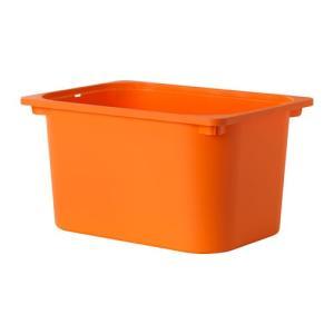 IKEA・イケア おもちゃ箱・子供収納 TROFAST(トロファスト) 収納ボックス, オレンジ(102.980.24)