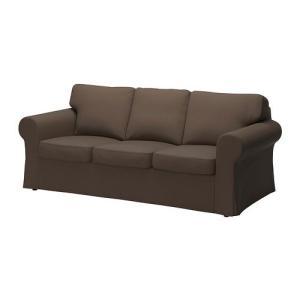 IKEA・イケア ソファ EKTORP 3人掛けソファ, ヨーンスボーダ ブラウン (190.052.48) moblife