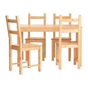 IKEA・イケア ダイニングテーブル・チェア INGO / IVARテーブル&チェア4脚, パイン材(190.973.56)|moblife