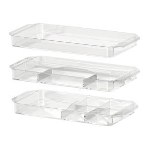 IKEA・イケア バスルーム収納・バスルームアクセサリー GODMORGON収納ユニット3個セット, 透明(201.649.48)|moblife